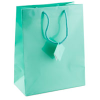 Glossy Teal Blue 4x6 Tote Gift Bag (20-Pcs)