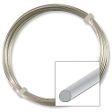 German Style Silver Plated Round Wire 24ga (12 Meters)