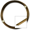 German Style Antique Brass Half Round Wire 21ga (4 Meters)