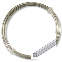 German Style Silver Plated Square Wire 20ga (2 Meters)