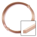 German Style Rose Gold Color Square Wire 20ga (2 Meters)