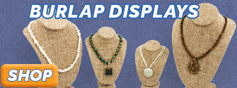 Burlap Jewelry Displays available at JewelrySupply.com