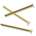 Gold Plated ½ Inch Head Pin 21 Gauge (10-Pcs)