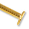 Matte Gold Plated 1-½ Inch Head Pin 21 Gauge (10-Pcs)