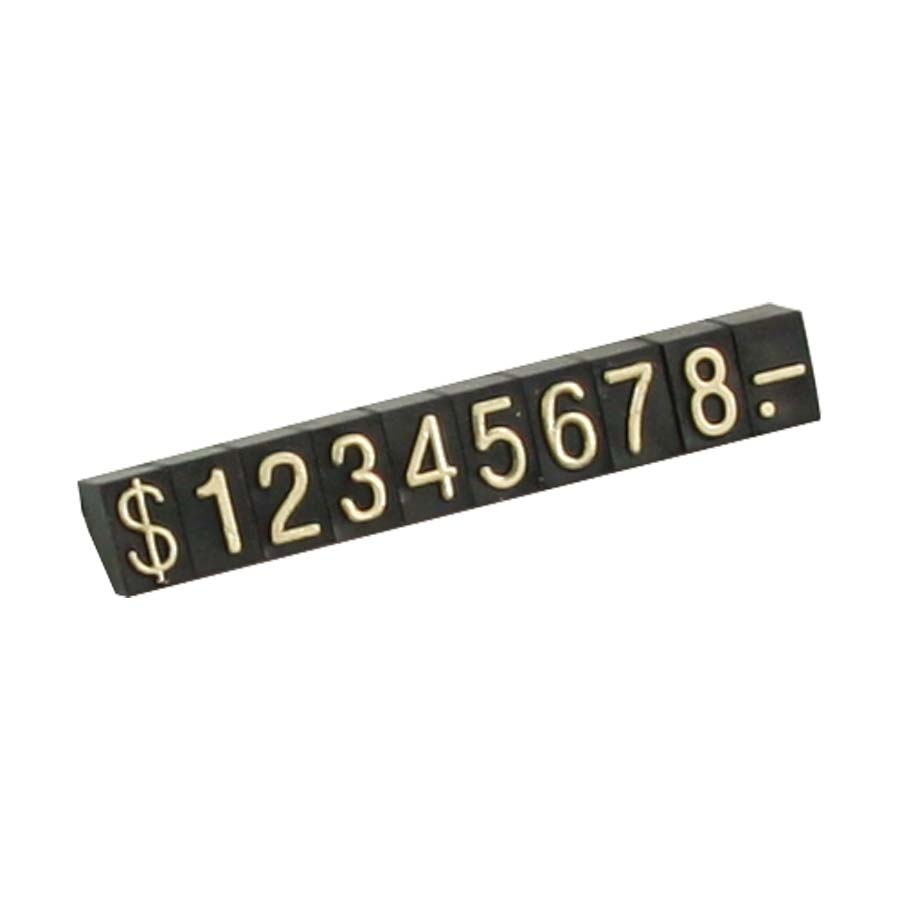 Jewelry Pricing Block Set With Gold Numbers
