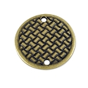TierraCast 2-Hole Woven Connector Pewter Antique Brass Plated 3/4