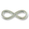 TierraCast Infinity Link Pewter Antique Silver Plated 32x11mm (1-Pc)