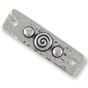 TierraCast Rectangular Spiral Link Pewter Antique Silver Plated 39x2.5mm (1-Pc)