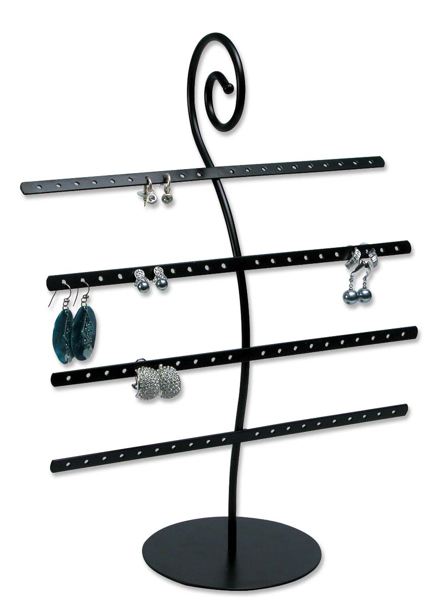 Metal Earring Rack Jewelry Display (Holds 40 pairs ...