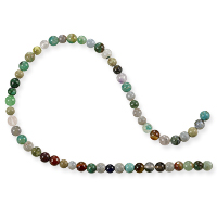 Mixed Stone Round Bead 4mm (16
