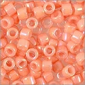 Miyuki Delica Seed Bead 11/0 Opaque Light Peachy Coral White Glazed Luster (3 Gram Tube)