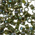 Miyuki Delica Seed Bead 11/0 Opaque Olive Green AB (3 Gram Tube)