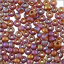 Miyuki Round Rocaille Seed Bead 11/0 Transparent Frosted Purple AB (3 Gram Tube)