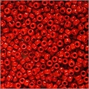 Miyuki Round Rocaille Seed Bead 15/0 Opaque Red (3 Gram Tube)