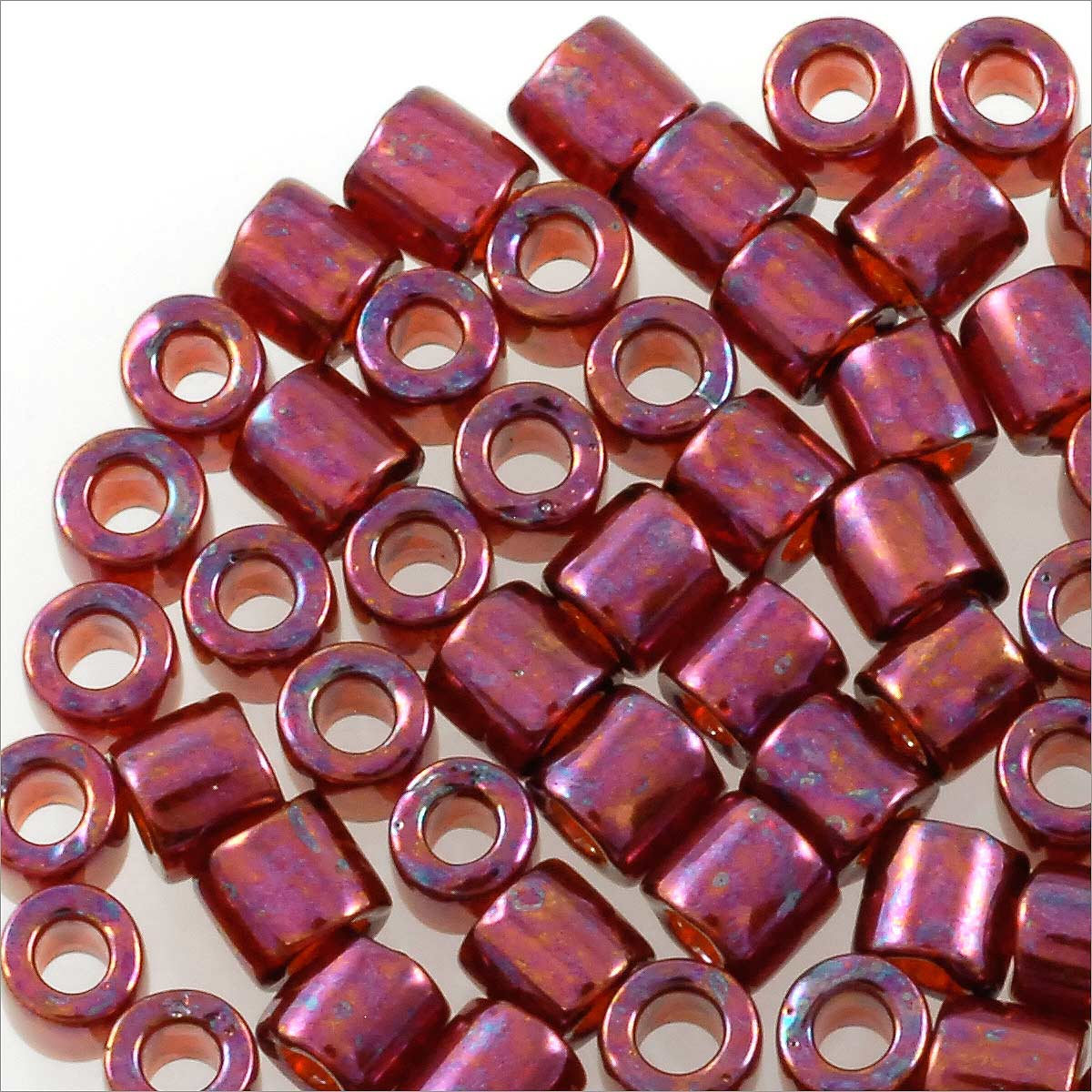 miyuki delica seed bead 8 0 gold luster red