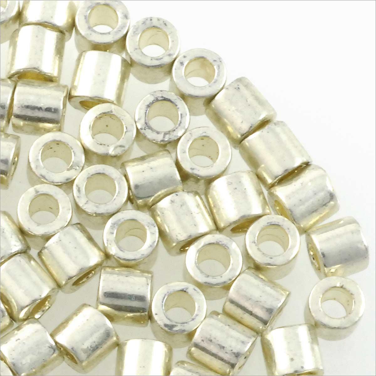 Where to buy silver - Miyuki Delica Seed Bead 8 0 Metallic Galvanized Silver 3 Gram Tube