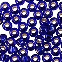 Miyuki Round Rocaille Seed Bead 8/0 Silver Lined Cobalt Blue (3 Gram Tube)