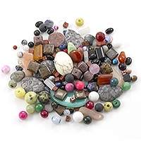 Natural Stone Bead Mix 1/4lb (1/4 Pound)