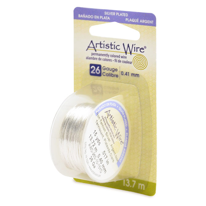 Artistic wire non tarnish silver plated 26ga jewelry wire gauge artistic wire 26ga non tarnish silver 15 yards keyboard keysfo Images