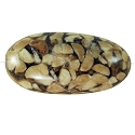 Organic Barrel Bead Mixed Seed and Resin 33x18mm
