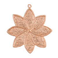 33x37mm Rose Gold Plated Pewter Flower Pendant