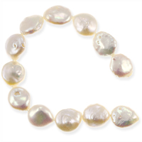 Freshwater Coin Pearls Baroque Creme 10-11mm (16