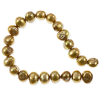 Freshwater Potato Pearl Nugget Gold 10-11mm (16