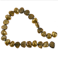 Freshwater Potato Pearl Nuggets Aztec Gold 7-8mm (16