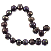 Freshwater Potato Pearl Peacock Black 8-9mm (16