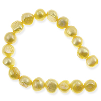 Freshwater Potato Pearl Nuggets Bright Gold 8-9mm (16