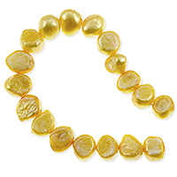 Freshwater Potato Pearl Nugget Bright Gold 9-10mm (16