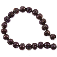 Freshwater Potato Pearls Chocolate 8-9mm (16