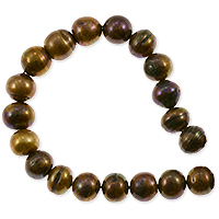 Freshwater Potato Pearl Antique Copper Bronze Mix 8-9mm (16