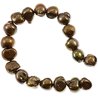 Freshwater Potato Pearls Baroque Nuggets Dark Bronze 9-10mm (16