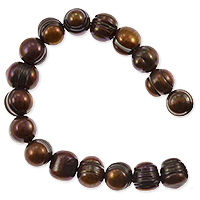 Freshwater Potato Pearl Dark Antique Copper Mix 9-10mm (16