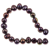 Freshwater Potato Pearl Dark Purple Peacock 7-8mm (16