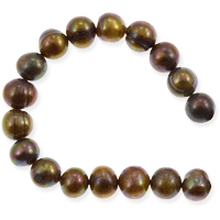Freshwater Potato Pearl Golden Brown Peacock 8-9mm (16