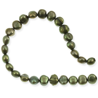 Freshwater Potato Pearl Nuggets Moss Green 6-6.5mm (16