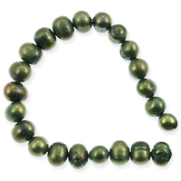 Freshwater Potato Pearl Moss Green 6-7mm (16