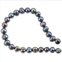 Freshwater Potato Pearl Peacock Grey 7-8mm (16