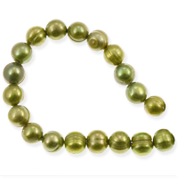 Freshwater Potato Pearl Pea Green 7-8mm (16