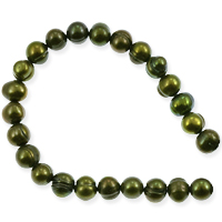 Freshwater Potato Pearl Seaweed Green 6-7mm (16