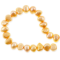 Freshwater Potato Pearl Nugget Orange Sherbet 8-9mm (16