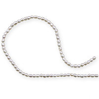 Freshwater Rice Pearls White 2mm (16 Inch Strand)