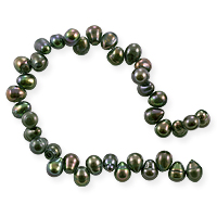 Freshwater Rice Pearl Peacock Dark Olive 5-6mm (16