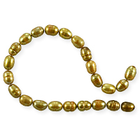 Freshwater Rice Pearl Rustic Gold 5-6mm (16