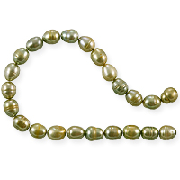 Freshwater Rice Pearl Light Antique Gold 6-7mm (16
