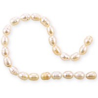 10 Strands Freshwater Rice Pearl Light Peach 6-7mm (16