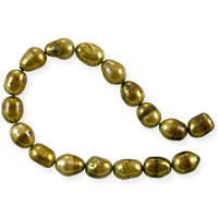 Freshwater Rice Pearl Antique Gold 8-9mm (16