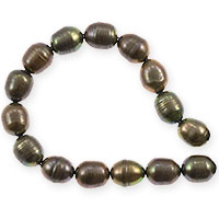 Freshwater Rice Pearl Olive Green 8-9mm (16